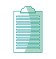 clipboard document list paper work vector image
