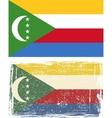 Comoros grunge flag vector image vector image