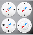 compass icon dial needle on dial positioning vector image