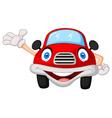 Cute red car cartoon character vector image vector image