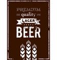 design beer label vector image vector image