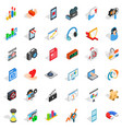 design icons set isometric style vector image vector image
