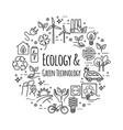 design template eco lifestyle zero waste vector image vector image