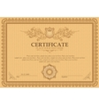 detailed certificate vector image vector image