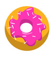 doughnut dessert with glaze bakery cafe vector image