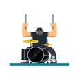 Drummer character flat vector image vector image