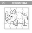 education puzzle game for preschool children vector image vector image