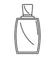 elegant woman perfume icon outline style vector image vector image
