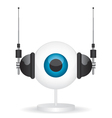 Eye camera and headphones vector image