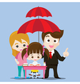 Family protect concept business man cartoon smile vector image vector image
