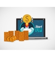 financial start up design vector image