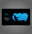 fisherman visiting card concept vector image
