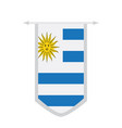 flag of uruguay on a banner vector image vector image