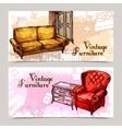 Furniture Banner Set vector image vector image