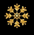 Golden Merry Christmas Sparkle Snowflakes vector image vector image