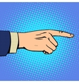 Hand pointing finger man vector image