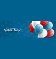 happy labor day banner or website header design vector image vector image