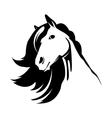 Head of the cute horse vector image vector image
