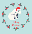holiday background with polar bear vector image