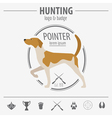 Hunting logo and badge template Dog hunting vector image vector image