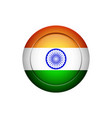 indian flag on the round button vector image