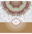 islamic vintage floral pattern template frame for vector image