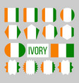 ivory flag collection figure icons set vector image vector image