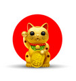 japan lucky cat golg vector image