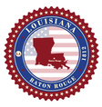 label sticker cards state louisiana usa vector image