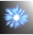 Lighting blue energy EPS 10 vector image