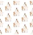 llama under mistletoe seamless pattern vector image