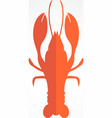 Lobster logo template design for seafood vector image vector image