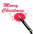 merry Christmas pen vector image vector image
