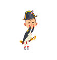 napoleon bonaparte cartoon character covering face vector image