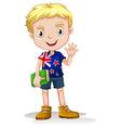 NewZealand boy carrying a book vector image vector image