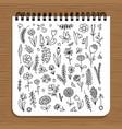notebook design floral design vector image vector image