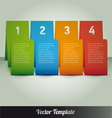 Page number Template vector image vector image