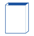 paper bag icon in blue silhouette vector image vector image