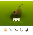 Pipe icon in different style vector image vector image