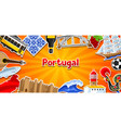 portugal banner with stickers portuguese national