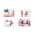 postal services or slow mail concept vector image vector image