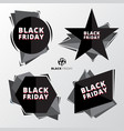 price tags set black friday sale discount on vector image
