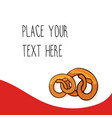 Red template with pretzels