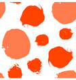 red watercolor dot seamless pattern vector image vector image