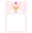Restaurant menu pink strips retro card vector image vector image