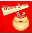 Santa Claus wishing Merry Christmas vector image vector image