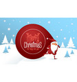 santa claus with a huge bag vector image