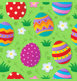 seamless easter theme background vector image