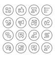 set round line icons feedback vector image