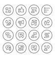 set round line icons of feedback vector image vector image
